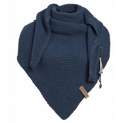 Knit Factory sjaal jeans blauw